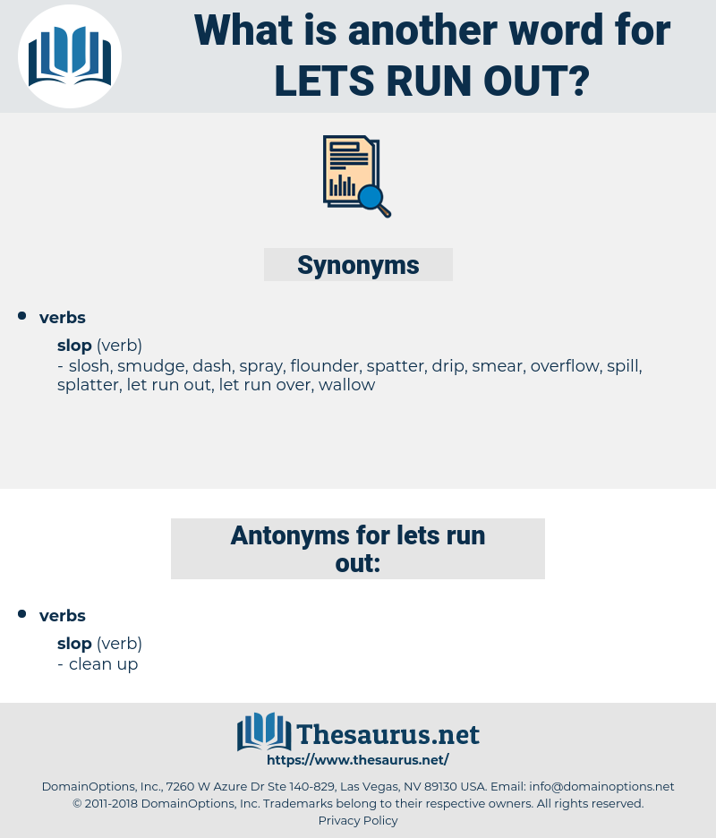 lets run out, synonym lets run out, another word for lets run out, words like lets run out, thesaurus lets run out
