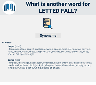 letted fall, synonym letted fall, another word for letted fall, words like letted fall, thesaurus letted fall
