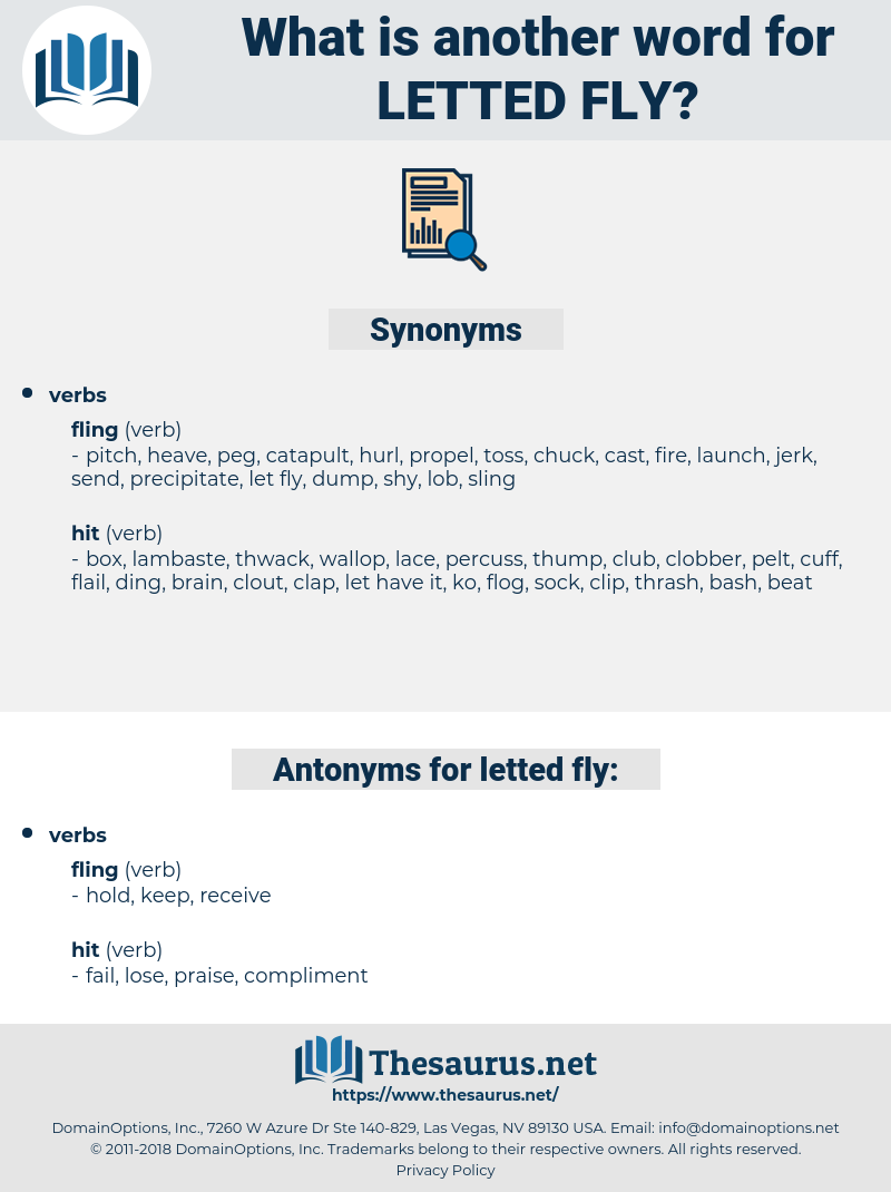 letted fly, synonym letted fly, another word for letted fly, words like letted fly, thesaurus letted fly