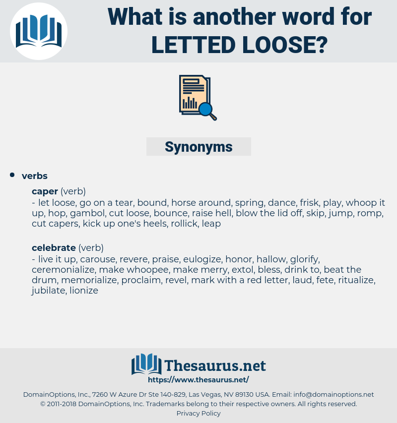 letted loose, synonym letted loose, another word for letted loose, words like letted loose, thesaurus letted loose