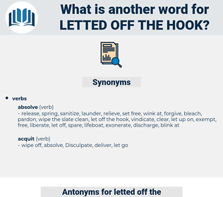 letted off the hook, synonym letted off the hook, another word for letted off the hook, words like letted off the hook, thesaurus letted off the hook