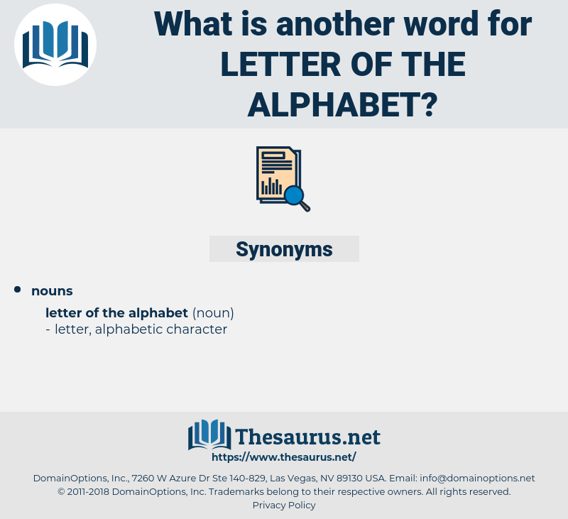 letter of the alphabet, synonym letter of the alphabet, another word for letter of the alphabet, words like letter of the alphabet, thesaurus letter of the alphabet