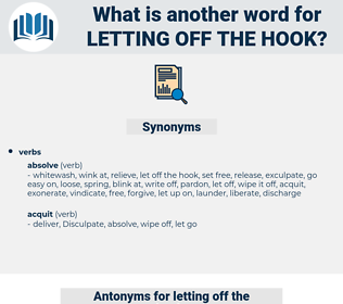 letting off the hook, synonym letting off the hook, another word for letting off the hook, words like letting off the hook, thesaurus letting off the hook