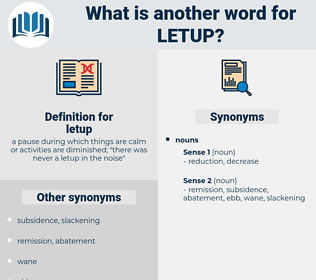 letup, synonym letup, another word for letup, words like letup, thesaurus letup