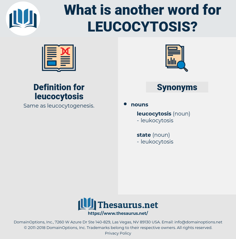 leucocytosis, synonym leucocytosis, another word for leucocytosis, words like leucocytosis, thesaurus leucocytosis