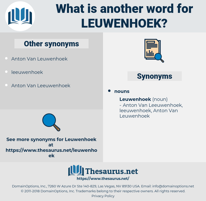 leuwenhoek, synonym leuwenhoek, another word for leuwenhoek, words like leuwenhoek, thesaurus leuwenhoek
