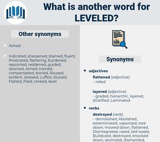 Leveled, synonym Leveled, another word for Leveled, words like Leveled, thesaurus Leveled