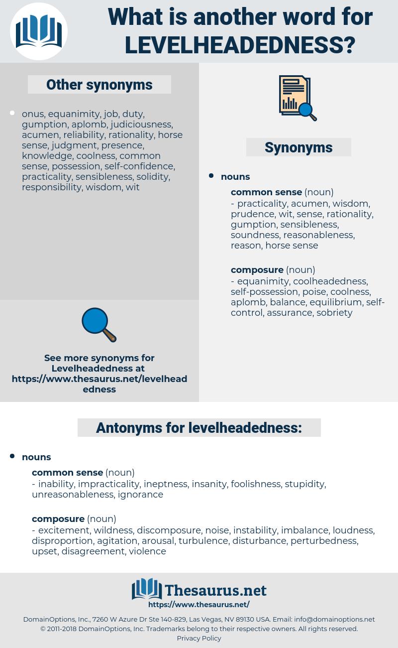 levelheadedness, synonym levelheadedness, another word for levelheadedness, words like levelheadedness, thesaurus levelheadedness