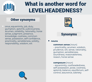levelheadedness, synonym levelheadedness, another word for levelheadedness, words like levelheadedness, thesaurus levelheadedness
