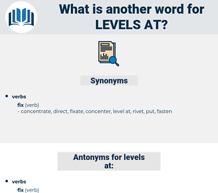 levels at, synonym levels at, another word for levels at, words like levels at, thesaurus levels at