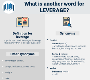 leverage, synonym leverage, another word for leverage, words like leverage, thesaurus leverage