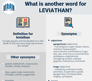 leviathan, synonym leviathan, another word for leviathan, words like leviathan, thesaurus leviathan