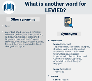 Levied, synonym Levied, another word for Levied, words like Levied, thesaurus Levied
