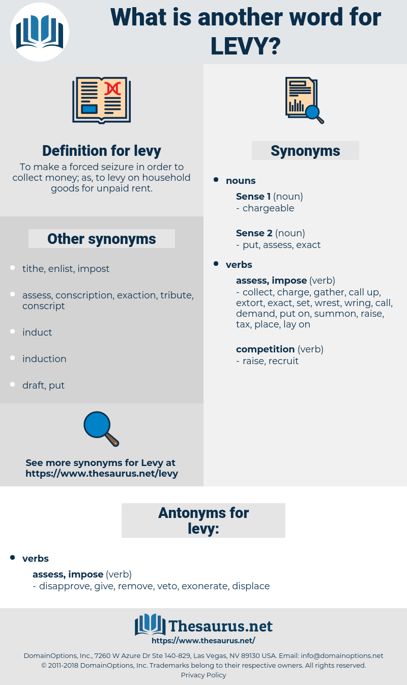 levy, synonym levy, another word for levy, words like levy, thesaurus levy
