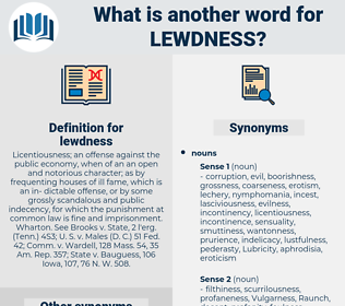 lewdness, synonym lewdness, another word for lewdness, words like lewdness, thesaurus lewdness
