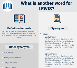lewis, synonym lewis, another word for lewis, words like lewis, thesaurus lewis