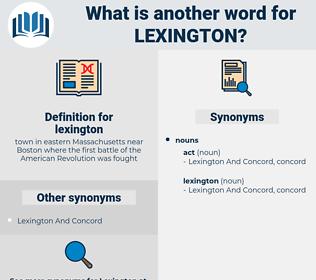 lexington, synonym lexington, another word for lexington, words like lexington, thesaurus lexington