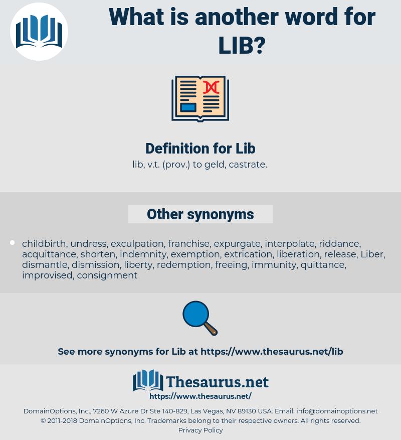Lib, synonym Lib, another word for Lib, words like Lib, thesaurus Lib