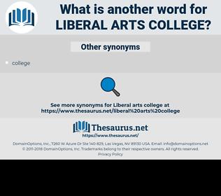 liberal arts college, synonym liberal arts college, another word for liberal arts college, words like liberal arts college, thesaurus liberal arts college