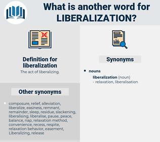 liberalization, synonym liberalization, another word for liberalization, words like liberalization, thesaurus liberalization