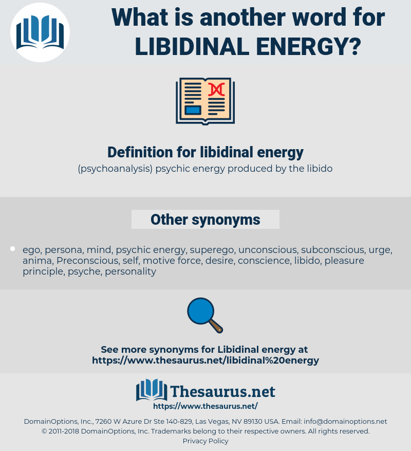 libidinal energy, synonym libidinal energy, another word for libidinal energy, words like libidinal energy, thesaurus libidinal energy