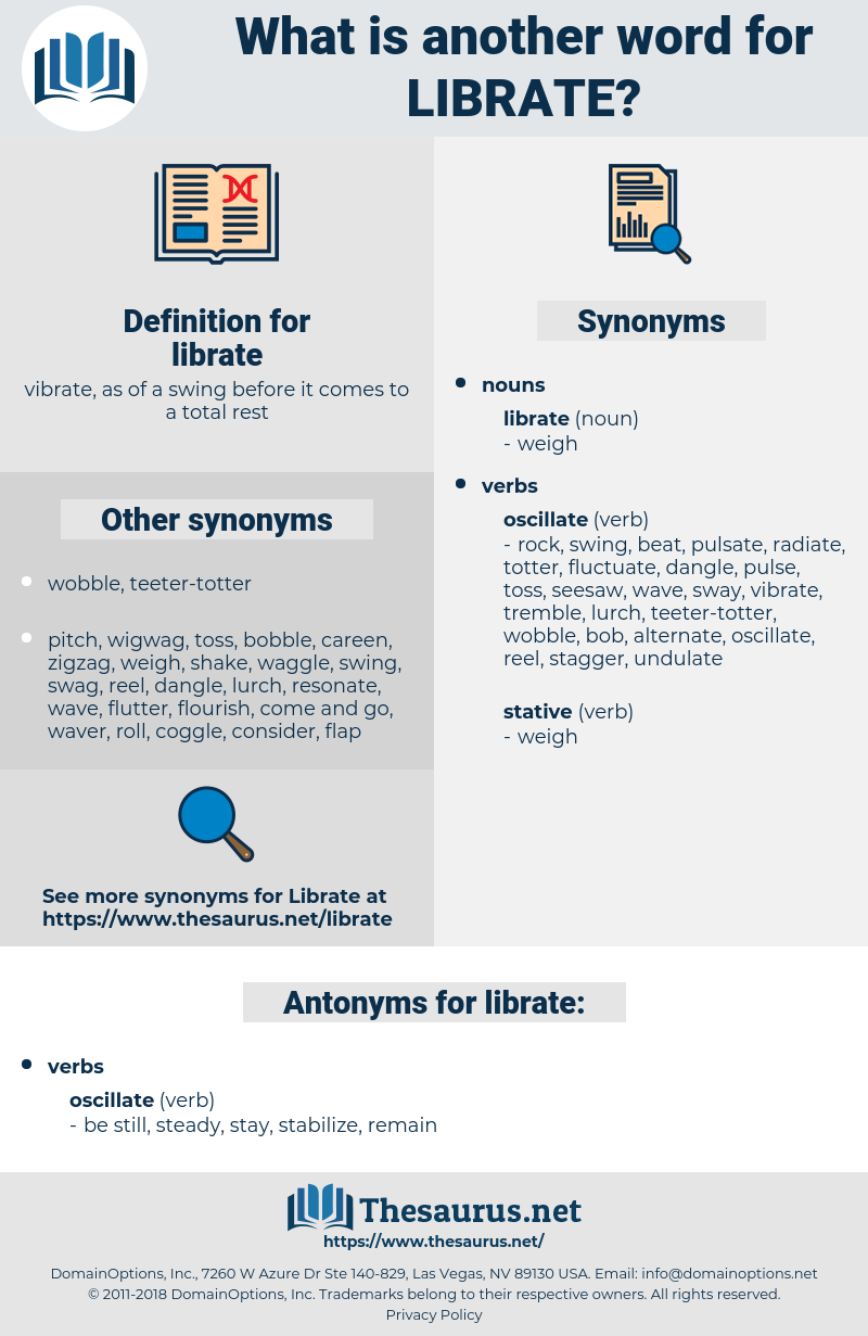 librate, synonym librate, another word for librate, words like librate, thesaurus librate