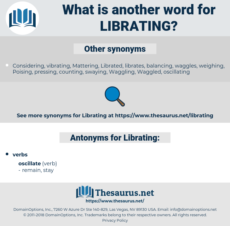 Librating, synonym Librating, another word for Librating, words like Librating, thesaurus Librating