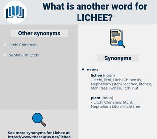 lichee, synonym lichee, another word for lichee, words like lichee, thesaurus lichee
