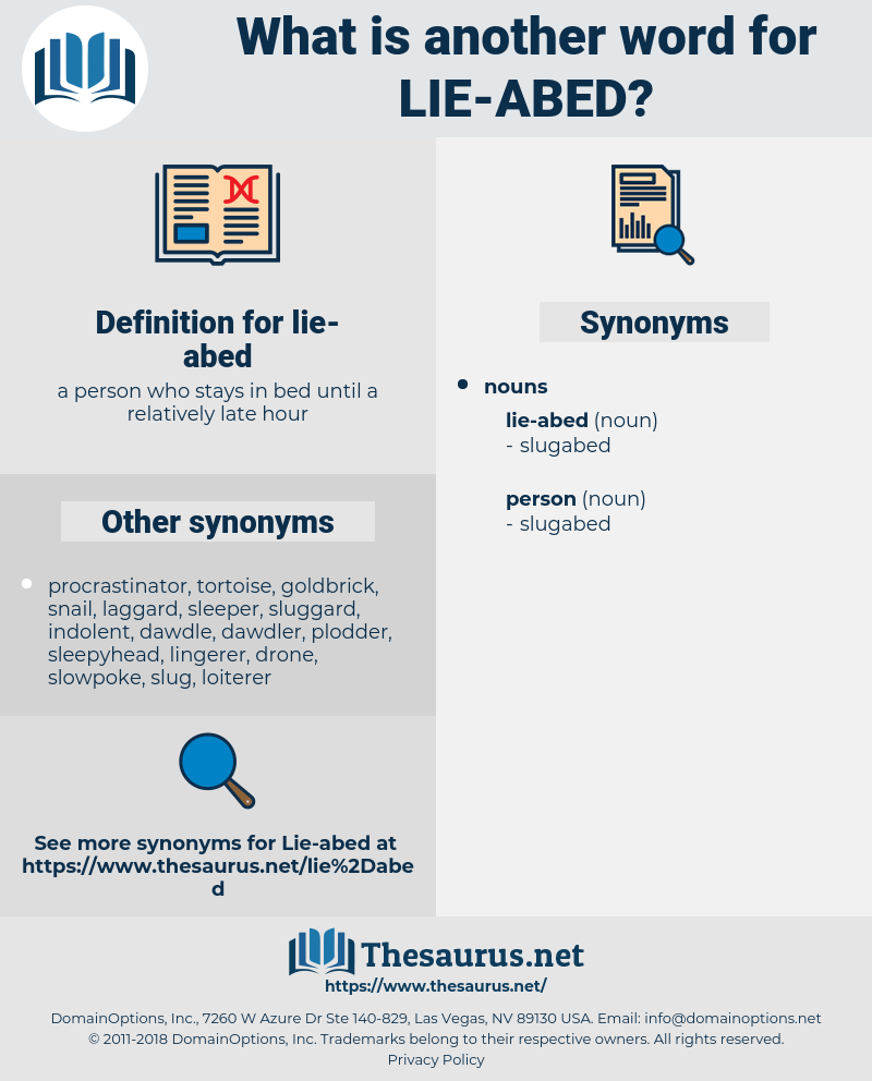 lie-abed, synonym lie-abed, another word for lie-abed, words like lie-abed, thesaurus lie-abed