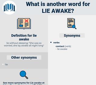 lie awake, synonym lie awake, another word for lie awake, words like lie awake, thesaurus lie awake