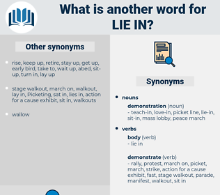 lie in, synonym lie in, another word for lie in, words like lie in, thesaurus lie in