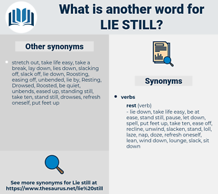 lie still, synonym lie still, another word for lie still, words like lie still, thesaurus lie still