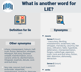 lie, synonym lie, another word for lie, words like lie, thesaurus lie