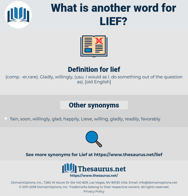 lief, synonym lief, another word for lief, words like lief, thesaurus lief