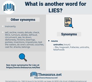 lies, synonym lies, another word for lies, words like lies, thesaurus lies