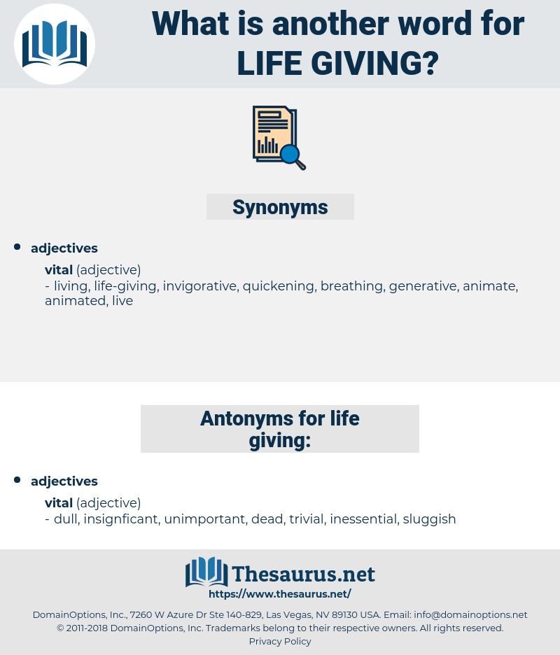 life-giving, synonym life-giving, another word for life-giving, words like life-giving, thesaurus life-giving