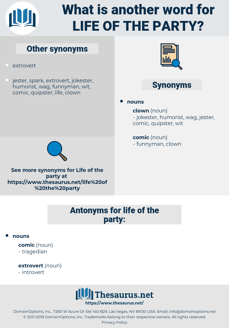 life of the party, synonym life of the party, another word for life of the party, words like life of the party, thesaurus life of the party
