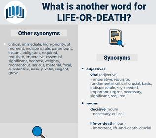 life or death, synonym life or death, another word for life or death, words like life or death, thesaurus life or death