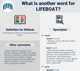lifeboat, synonym lifeboat, another word for lifeboat, words like lifeboat, thesaurus lifeboat
