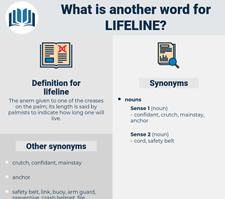 lifeline, synonym lifeline, another word for lifeline, words like lifeline, thesaurus lifeline
