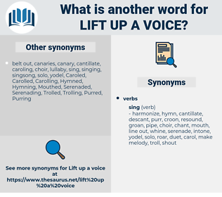 lift up a voice, synonym lift up a voice, another word for lift up a voice, words like lift up a voice, thesaurus lift up a voice