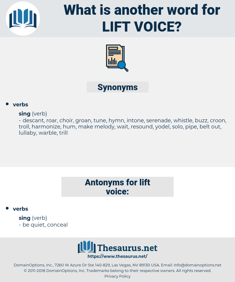 lift voice, synonym lift voice, another word for lift voice, words like lift voice, thesaurus lift voice