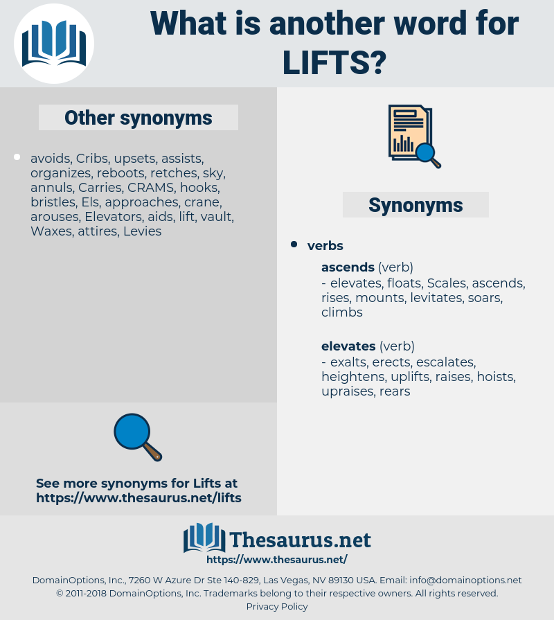 lifts, synonym lifts, another word for lifts, words like lifts, thesaurus lifts