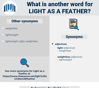 light as a feather, synonym light as a feather, another word for light as a feather, words like light as a feather, thesaurus light as a feather