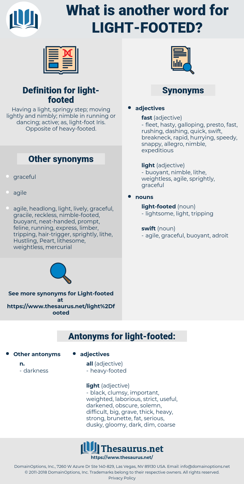 light-footed, synonym light-footed, another word for light-footed, words like light-footed, thesaurus light-footed