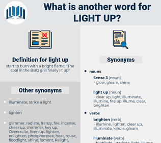 light up, synonym light up, another word for light up, words like light up, thesaurus light up