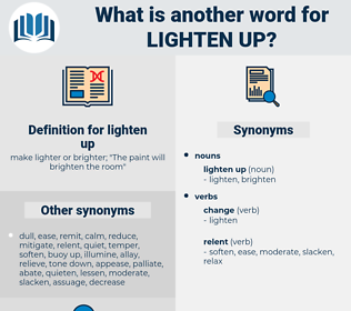 lighten up, synonym lighten up, another word for lighten up, words like lighten up, thesaurus lighten up