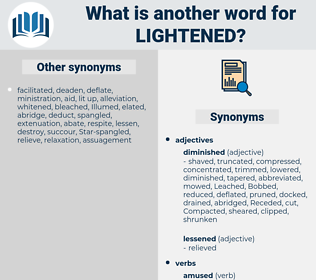 Lightened, synonym Lightened, another word for Lightened, words like Lightened, thesaurus Lightened