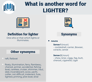 lighter, synonym lighter, another word for lighter, words like lighter, thesaurus lighter