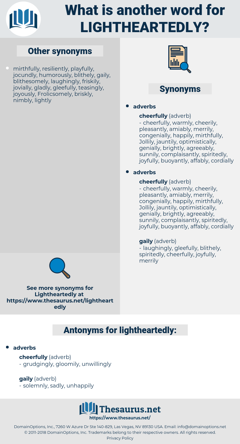 lightheartedly, synonym lightheartedly, another word for lightheartedly, words like lightheartedly, thesaurus lightheartedly